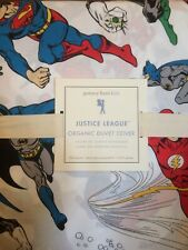 POTTERY BARN KIDS Justice League FULL/QUEEN Duvet Cover - NEW NLA