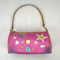 Pink Pebbled Leather DOONEY BOURKE 2 Mini Duffle Shoulder Bag Satchel Hobo Purse