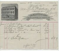 1892 Billhead, Knott & Sons, Louisville KY ~ Dry Goods And Notions