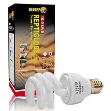Reptile Compact Fluorescent Vivarium Lamp Light 10.0 UVB UVA UV 13W ES Screw
