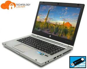 "HP EliteBook 8460p 14"" Laptop i7-2720QM @2.20GHz 8GB 256GB SSD Win 10 AMD 6470M"