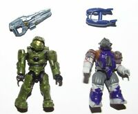 Jump Pack Brute & Master Chief Lot : Halo Mega Bloks Construx Mattel Figure