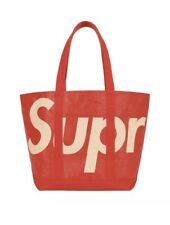 Supreme Raffia Tote Bag Red - IN HAND SS20 With 2 Stickers