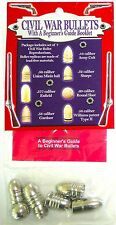 Civil War Replica Bullets (Pack of 7) With A Beginner's Guide Booklet >NEW<