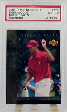 2001 Upper Deck Golf Tiger Woods Tiger Tales TT8 Mint 9 Serial No. PSA Single