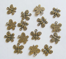 15 Metal Antique Bronze Colour Butterfly Charms - 13mm