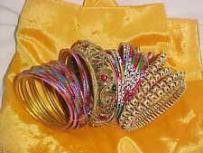 BUNCH Of RARE Bangle Sari SALWAR Kamez DRESS OUTFIT Ballroom BELLY DANCE JEWELRY
