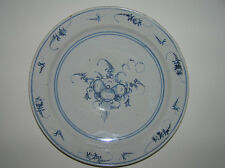 ANTIQUE DUTCH DELFT BLUE AND WHITE HAND PAINTED PLATE 18 TH.C.