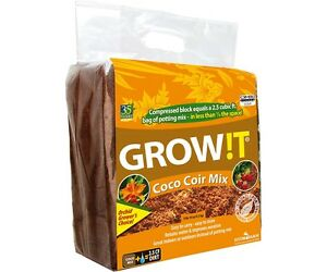 GROW!T / PLANT!T Organic Coco Coir, Mix Block SAVE $$ W/ BAY HYDRO $$