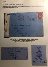 1944 WRNS Forces Bangor N Ireland England Censored Cover To Shetland Islands