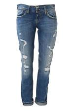 Risse/Fetzen Damen-Jeans-Normalgröße Hosengröße W28