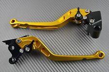 Langen Hebel Paar Bremshebel Kupplungshebel Gold CNC SUZUKI GSXF 600 750 KATANA