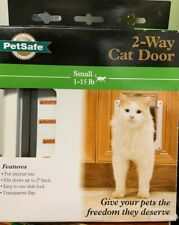 2 Way Small Pet Cat Puppy Dog Door Flap Locking Lockable Safe Gate new in box