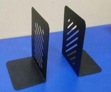 "Pair of 8"" Heavy Duty Steel Bookends - Black"
