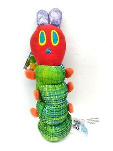 "The World Of Eric Carle Hungry Hungry Caterpillar RARE Rattle Plush - EUC - 7"""