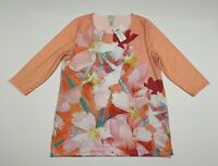 New Zenergy Chico's Ryan Floral Print Tunic Short Sleeve Top Size 2