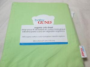 New Baby Gund Blue Organic Cotton Crib Sheet 28x52 NIP