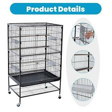 """Extra large bird cage 52"""" Folding parrot bird cage with stand bird macaw parrot"""