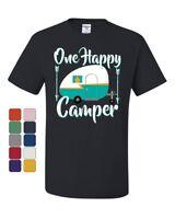 One Happy Camper T-Shirt Camping Roadtrip RV Trailer Tee Shirt