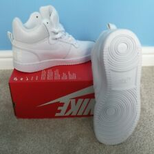 Nike Court Borough Entrenadores Botas Blanco Uk Size 6.5 EUR 40.5 venta 838938-111