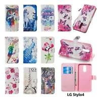 Stylo 4 Case Magnetic Leather Card Pocket Flip Wallet Stand Strap Cover For LG