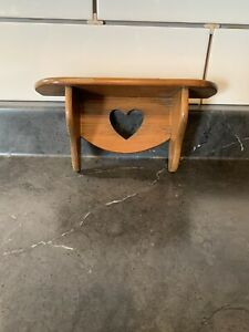 Small Wooden Shelf With Heart Cutout
