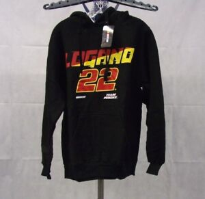 NWT Men's Joey Logano #22 Hooded Sweatshirt / Hoodie Color: Black
