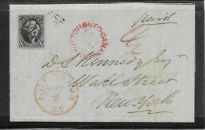US #2 10c 1847  Cover FROM  CANADA Famous Kennedy Corresponce