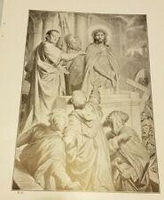 1910 ECCE HOMO Behold the Man Print H Hofmann NT Bible Jesus Before His Death