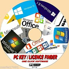 FIND YOUR PC SOFTWARE/APPS LICENCE KEYS ALL WINDOWS VERSIONS + 1000+ OTHER ON CD