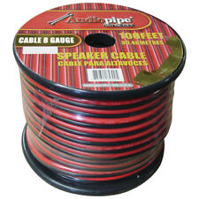 AUDIOPIPE CABLE8-100BLK Audiopipe 8 Gauge Speaker Wire 100' Red/Black