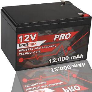 12 Volt kraftmax AGM Bleiakku 12V 12Ah Blei Akku Batterie - Neuste Generation