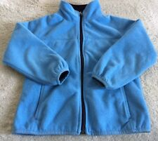 Lands End Boys Blue Soft Shell Fleece Winter Jacket Pockets 5-6