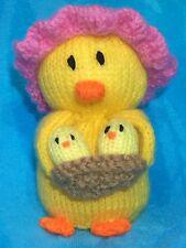 Tejer patrón-la madre y del bebé Chica Chocolate Tapa Naranja o 15 Cm DE JUGUETE