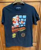 Super Mario Bros. Nintendo Video Game Men M Tee T Shirt Black By Fifth Sun