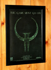 1997 Quake II 2 Video game Rare Small Poster Vintage Ad Page Framed PS1 Xbox 360