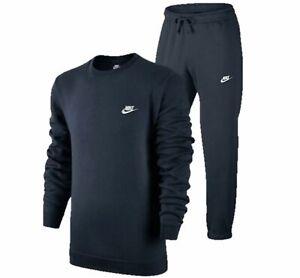 Nike Mens Tracksuit Full Set Joggers Bottoms Sweatshirt Fleece Crew Top Sale