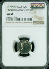 1976 CANADA 10 CENTS NGC MAC MS-68 PQ FINEST GRADE SPOTLESS  ,