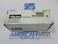 New surplus Parker hydraulic valve C800B  2000 PSI  10GU 138 Bar max 15 GPM