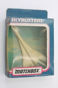 Vintage Matchbox No SB-23 Supersonic Airliner CONCORDE Sky Busters 1989