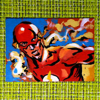 Flash original painting 1/1 signed sketch card