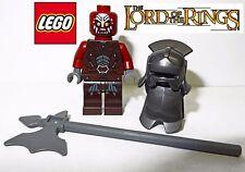 Lego LOTR Uruk-Hai Minifigure with Armor Helmet and Axe NEW