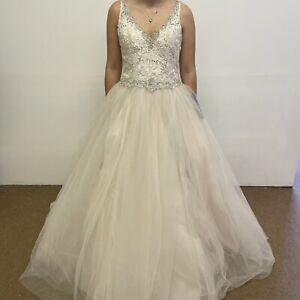 Mori Lee by Madeline Gardner Wedding Dress UK Size 14  Elyse Style Blush(#H1/08)