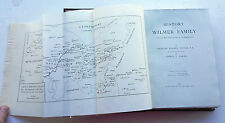 Rare 1888 First Edition Uncut Pages The History of The Wilmer Family C W foster