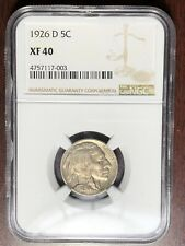 1926 D NGC XF-40 Buffalo Nickel  #W6722