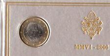 1€ OFFICIEL DU COFFRET VATICAN 2006 BENOIT XVI UNC-Neuve