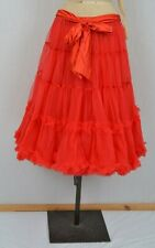 "Red Skirt / Petticoat  26"" Long Vintage Underskirt Bow S/M Net Tutu Bustle"
