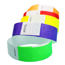 "3/4"" Tyvek Wristbands (Choose Your Color) 100ct, 500ct or 1000ct"