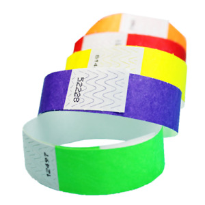 """3/4"""" Tyvek Wristbands (Choose Your Color) 100ct, 500ct or 1000ct"""