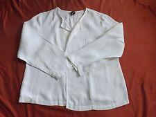 Eillen Fisher  Woman White Linen Blazer Top-Size 2X